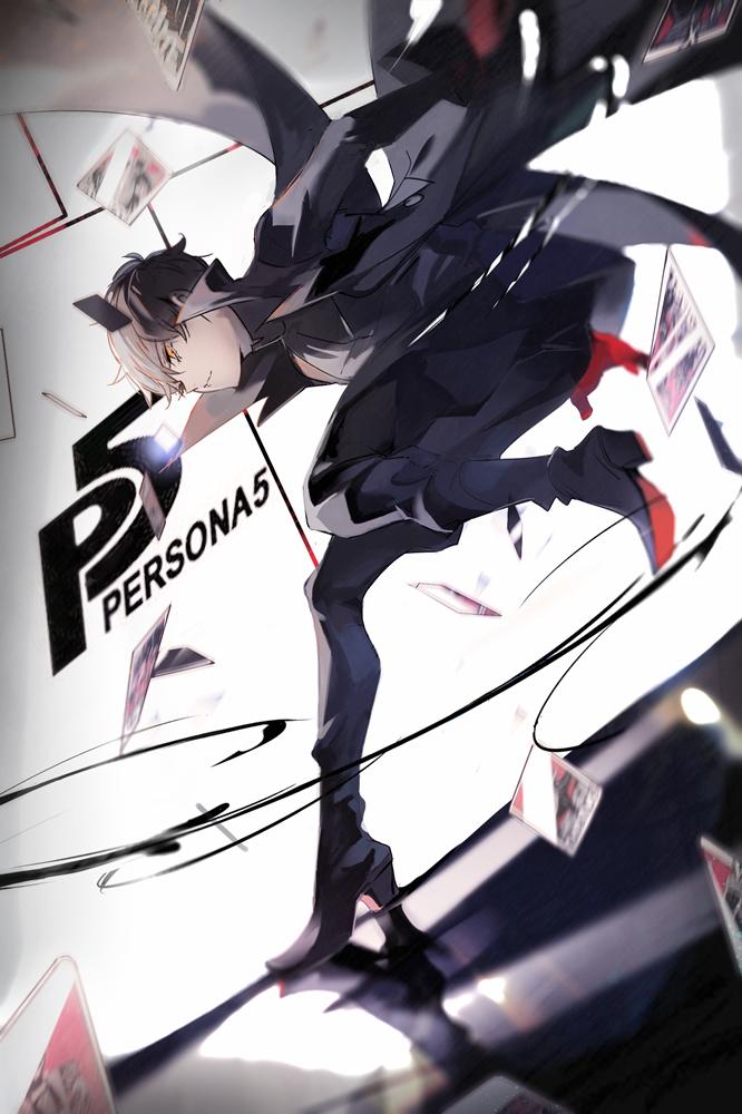 Tags: Anime, Left Mouse, Shin Megami Tensei: PERSONA 5, Amamiya Ren (Persona 5), Joker (Persona 5), Pixiv, Fanart, Fanart From Pixiv, Mobile Wallpaper, PNG Conversion