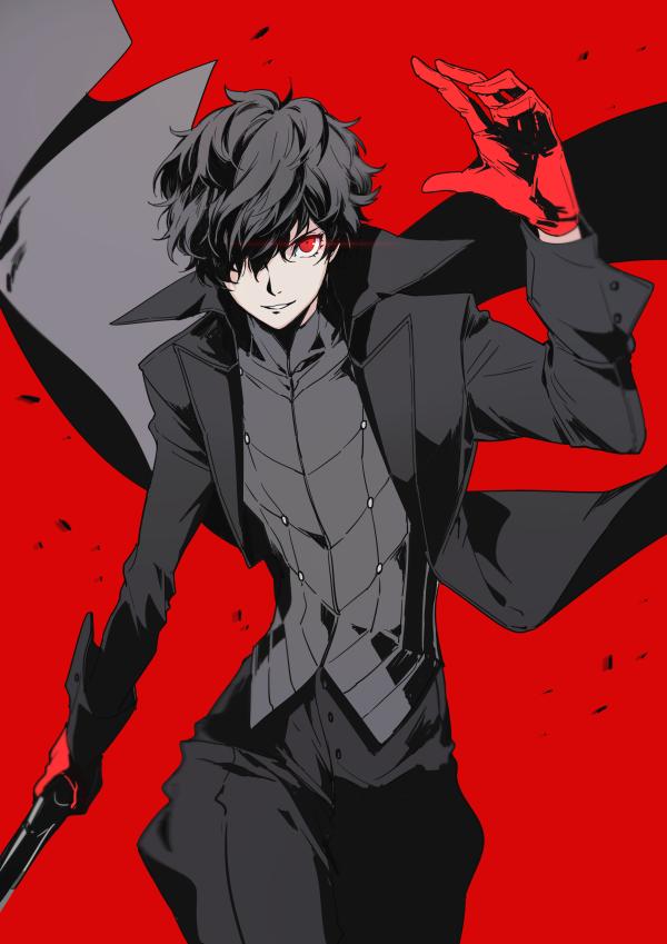 Tags: Anime, kageuri, Shin Megami Tensei: PERSONA 5, Joker (Persona 5), Amamiya Ren (Persona 5), Pixiv, Fanart, Fanart From Pixiv