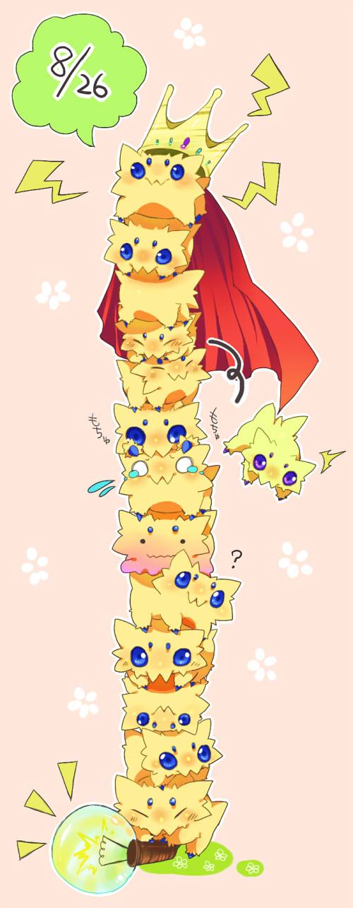 Tags: Anime, Kotatsu Neneko, Pokémon, Joltik, Ditto, Transformation, Pixiv, Fanart, Shiny Pokémon, Fanart From Pixiv