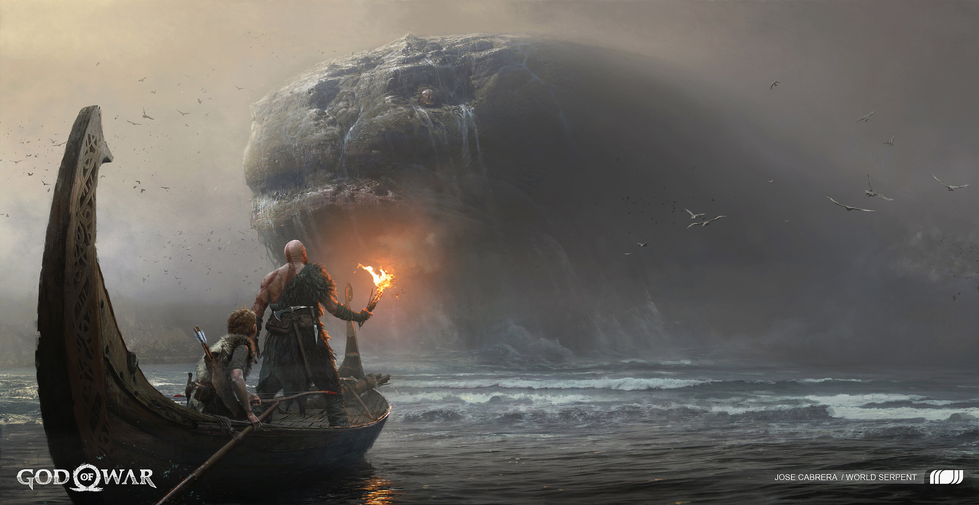 Kratos god of war zerochan anime image board - God of war jormungandr ...