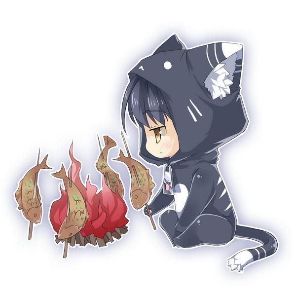 Tags: Anime, Saru Long, Falcom, Eiyuu Densetsu VI: Sora no Kiseki, Joshua Astray, Cat Costume, Barbecue, Pixiv, Fanart