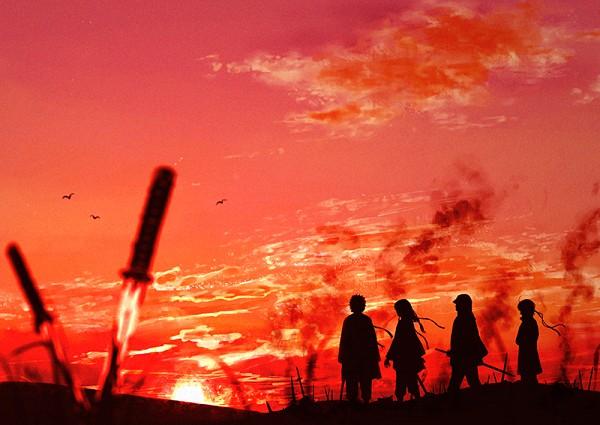 Tags: Anime, Pixiv Id 14791009, Gin Tama, Katsura Kotaro, Takasugi Shinsuke, Shiroyasha, Sakata Gintoki