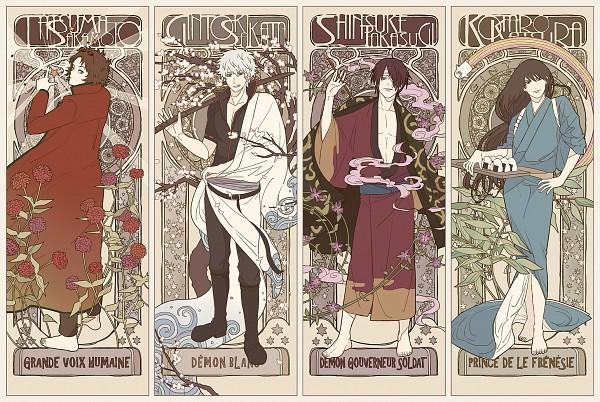 Tags: Anime, Pixiv Id 14791009, Gin Tama, Sakata Gintoki, Sakamoto Tatsuma, Katsura Kotaro, Takasugi Shinsuke
