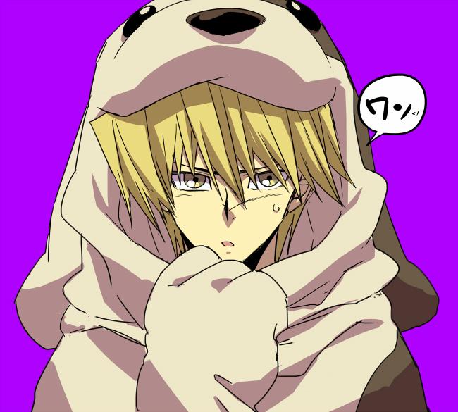 Tags: Anime, Rokuro, Yu-Gi-Oh! Duel Monsters, Yu-Gi-Oh!, Jounouchi Katsuya, Dog Costume, Fanart From Pixiv, Fanart, Pixiv, Joey Wheeler