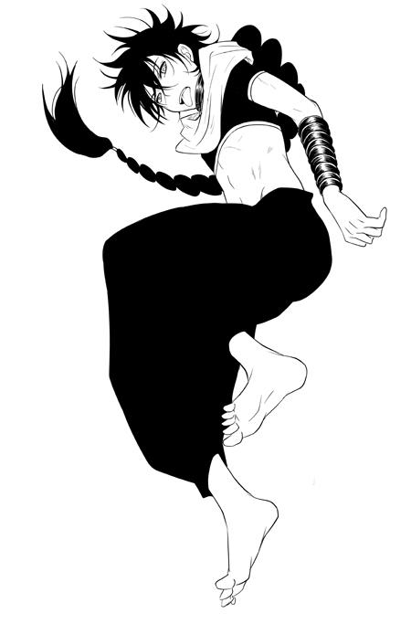 Tags: Anime, Pixiv Id 1087018, MAGI: The Labyrinth of Magic, Judar, Afghani Pants, Baggy Pants, Pixiv, Fanart, Mobile Wallpaper