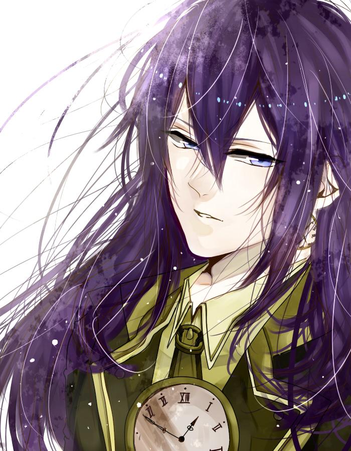 Аниме картинки парней с фиолетовыми волосами