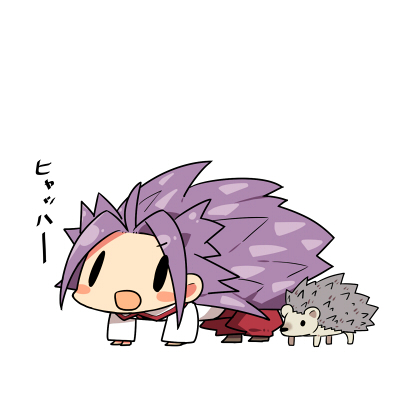 Tags: Anime, Kanikama, Kantai Collection, Junyou (Kantai Collection), Hedgehog, Pixiv, Fanart From Pixiv, Fanart, PNG Conversion