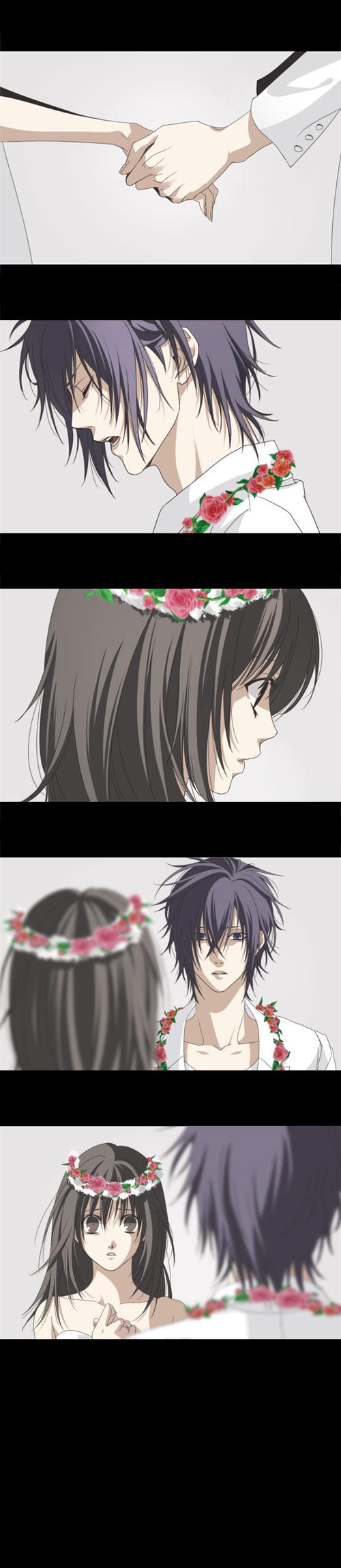 Tags: Anime, Mocchiri Oyaji, IDEA FACTORY, Saitou Hajime (Hakuouki), Yukimura Chizuru, Pixiv, Fanart, Just Be Friends