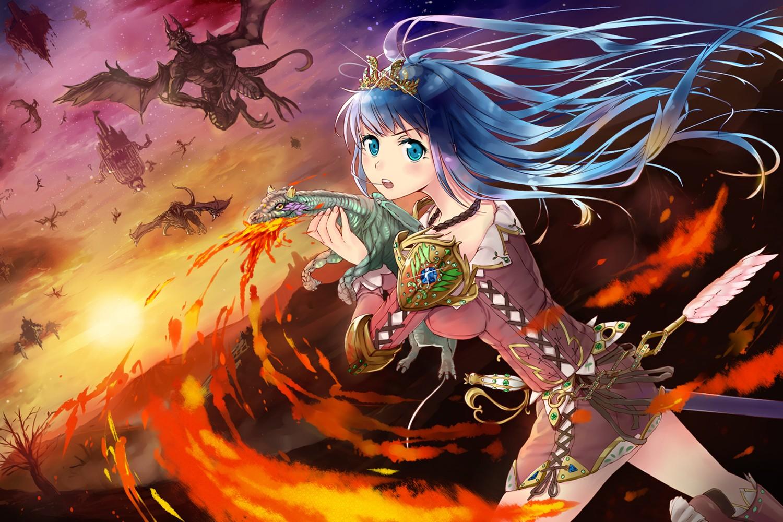 Juu zerochan anime image board - Anime girls with fire ...