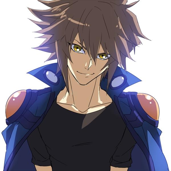 Tags: Anime, Rokuro, Yu-Gi-Oh!, Yu-Gi-Oh! GX, Juudai Yuuki, Yusei Fudo (Cosplay), Borrowed Clothes, Fanart From Pixiv, Fanart, Pixiv, Jaden Yuki