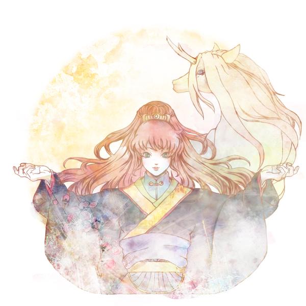 Tags: Anime, Gineye, Juuni Kokuki, Nakajima Youko, Keiki, Kirin (Creature), Fanart, Pixiv, Twelve Kingdoms