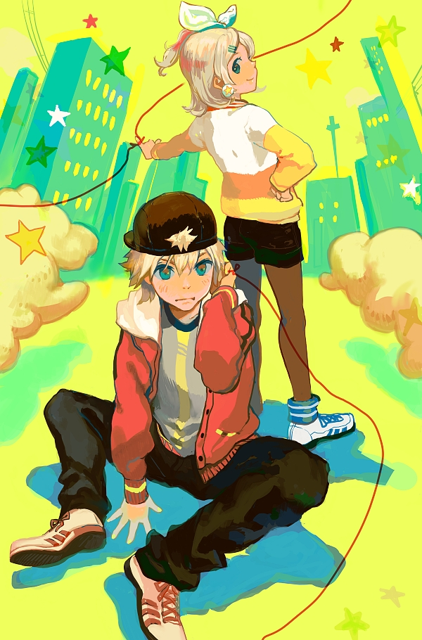 Tags: Anime, Taira, VOCALOID, Kagamine Len, Kagamine Rin, Mobile Wallpaper, Juvenile, Kagamine Mirrors