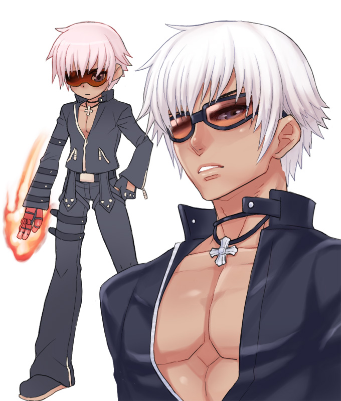 Tags: Anime, The King of Fighters, K', VêTements Noir Et Blanc