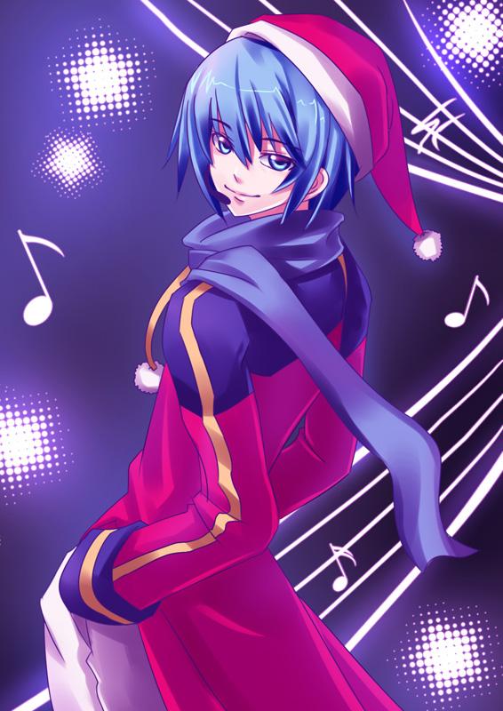 Tags: Anime, Kaizeru, VOCALOID, KAITO, Fanart, Mobile Wallpaper