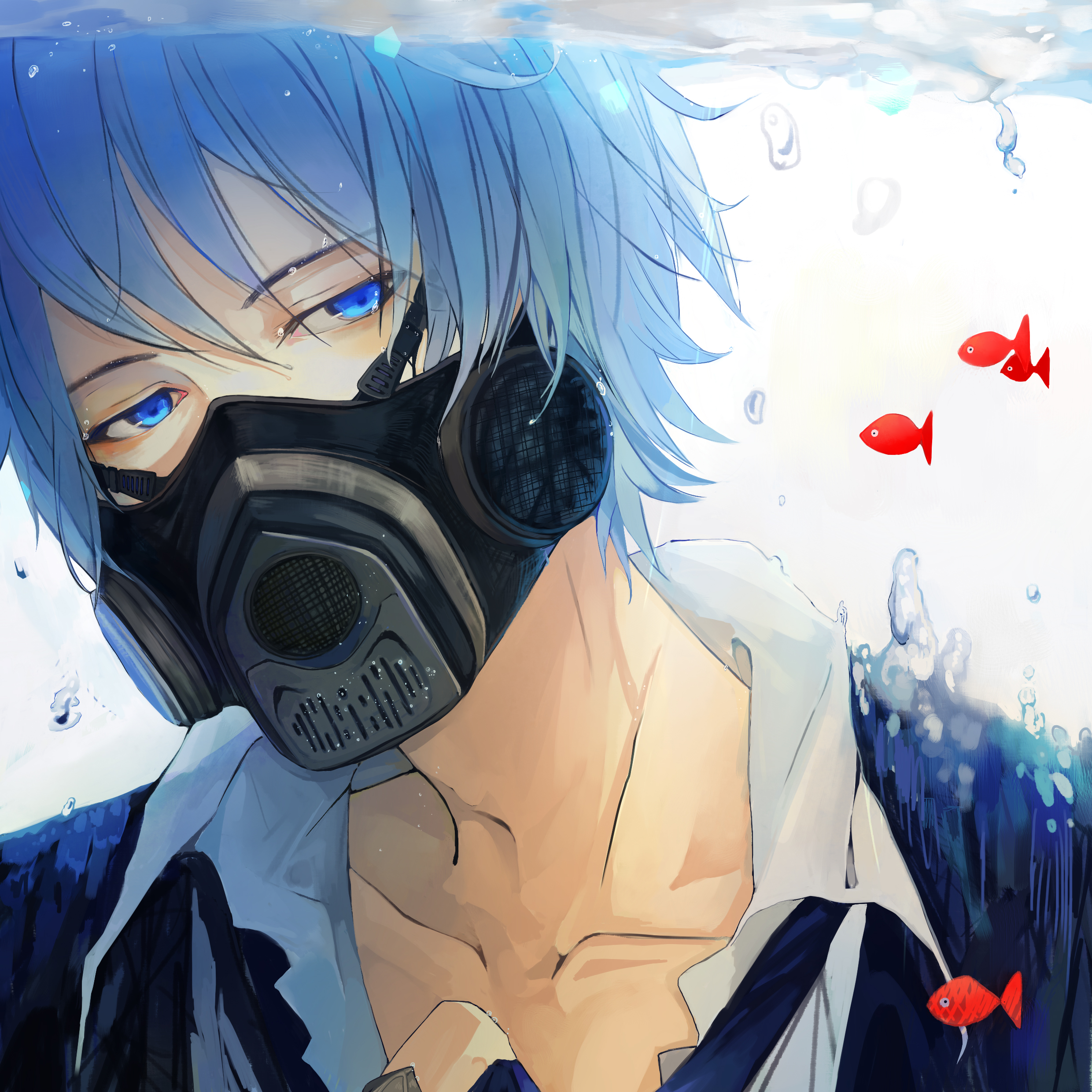 Chicos sexys con Gas Mask <3 KAITO.full.1498721