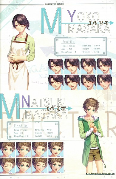 Tags: Anime, Kawahito Yasutake, Otomate, DESIGN FACTORY, Klap!! ~Kind Love And Punish~ Official Art Book, KLAP!! ~Kind Love And Punish~, Mimasaka Natsuki
