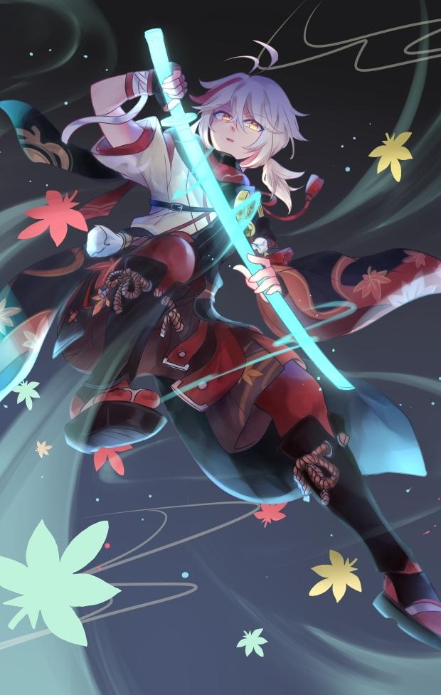 Tags: Anime, Pixiv Id 8650541, Genshin Impact, Kaedehara Kazuha