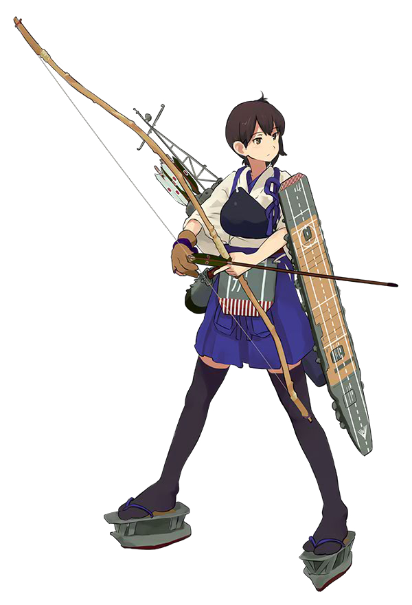 Tags: Anime, Shibafu, Kadokawa Games, Kantai Collection, Kaga (Kantai Collection), Official Art, Cover Image, PNG Conversion
