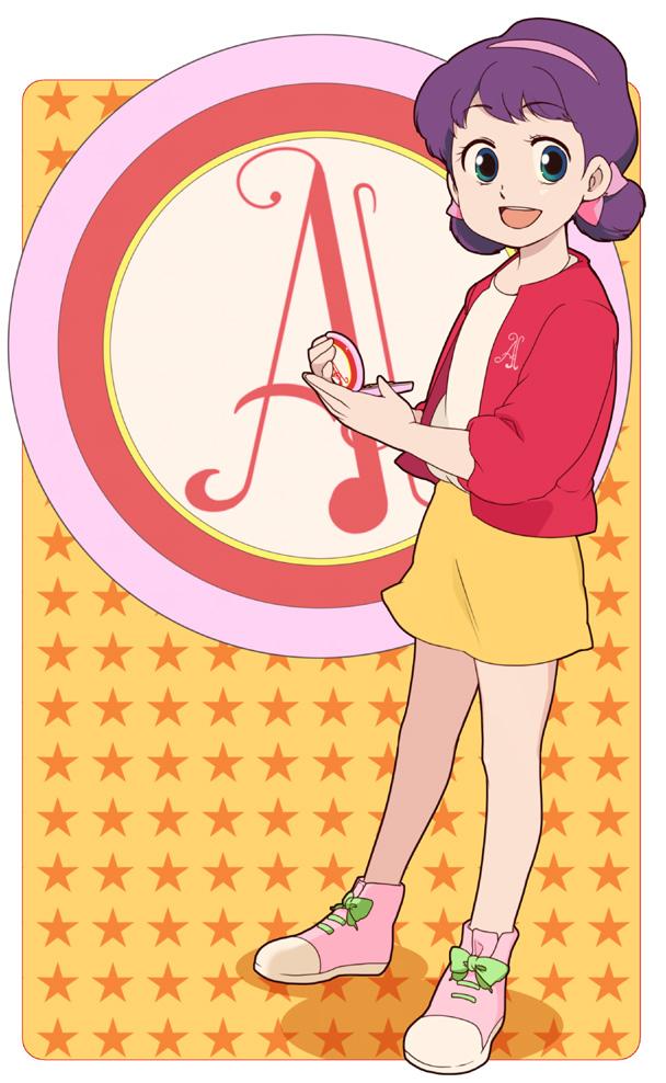 Tags: Anime, Pixiv Id 28081, Himitsu no Akko-chan, Kagami Atsuko, Yellow Skirt, Pixiv, Fanart, Fanart From Pixiv