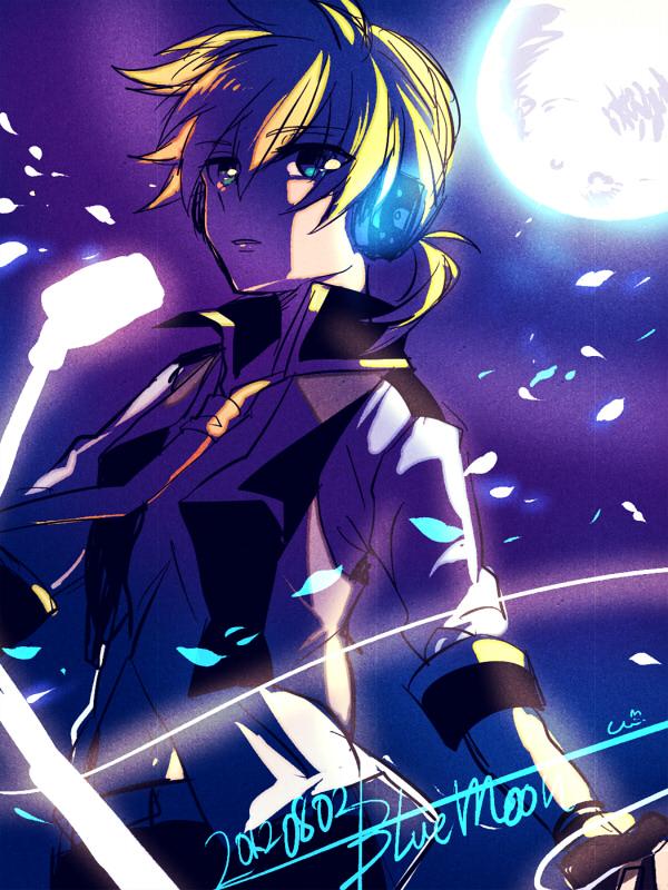 Tags: Anime, Painter Brioche, Project DIVA Extend, VOCALOID, Kagamine Len, Project DIVA Blue Moon, Len Kagamine