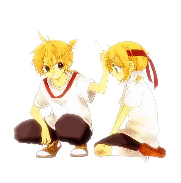 Kagamine Rin Crying Kagamine Len Kagamine Rin