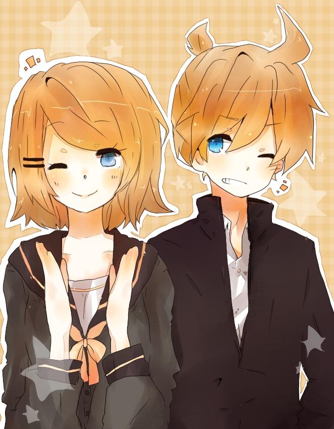 Tags: Anime, Pixiv Id 874164, VOCALOID, Kagamine Len, Kagamine Rin, Kagamine Mirrors