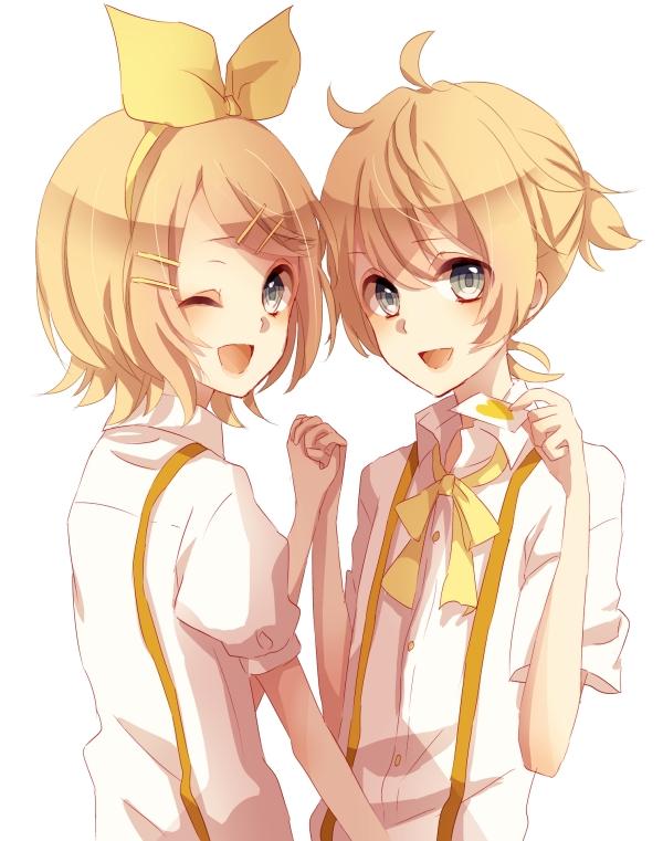 Tags: Anime, Pixiv Id 4442622, VOCALOID, Kagamine Len, Kagamine Rin, Kagamine Mirrors