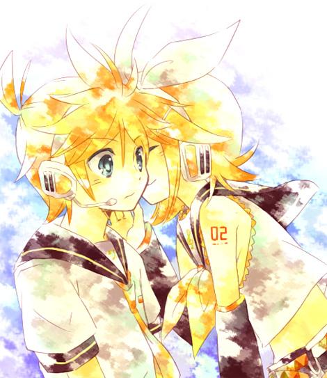 Tags: Anime, Hino (Moca), VOCALOID, Kagamine Len, Kagamine Rin, Pixiv, Fanart, Kagamine Mirrors