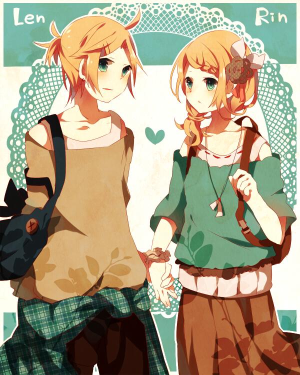 Tags: Anime, macozi, VOCALOID, Kagamine Len, Kagamine Rin, Doily, Fanart From Pixiv, Fanart, Pixiv, Kagamine Mirrors