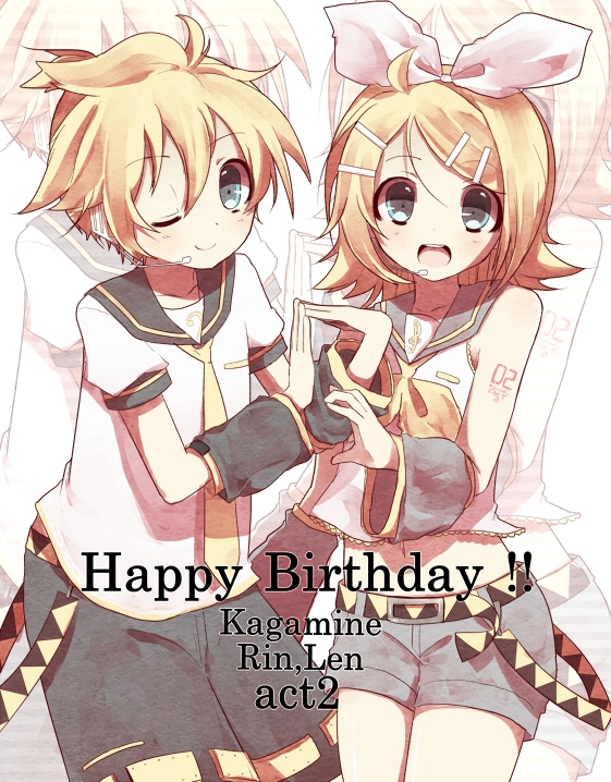 Tags: Anime, Hakumugi, VOCALOID, Kagamine Rin, Kagamine Len, Fanart From Pixiv, Fanart, Pixiv, Kagamine Mirrors