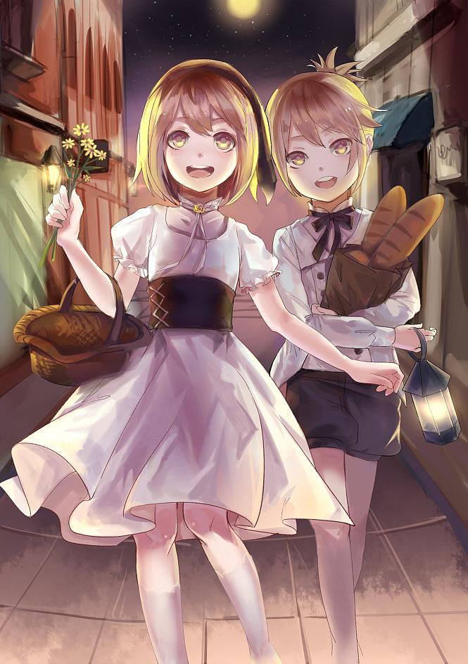 Tags: Anime, Rifsom, VOCALOID, Kagamine Rin, Kagamine Len, Mobile Wallpaper, Fanart, Pixiv, Kagamine Mirrors