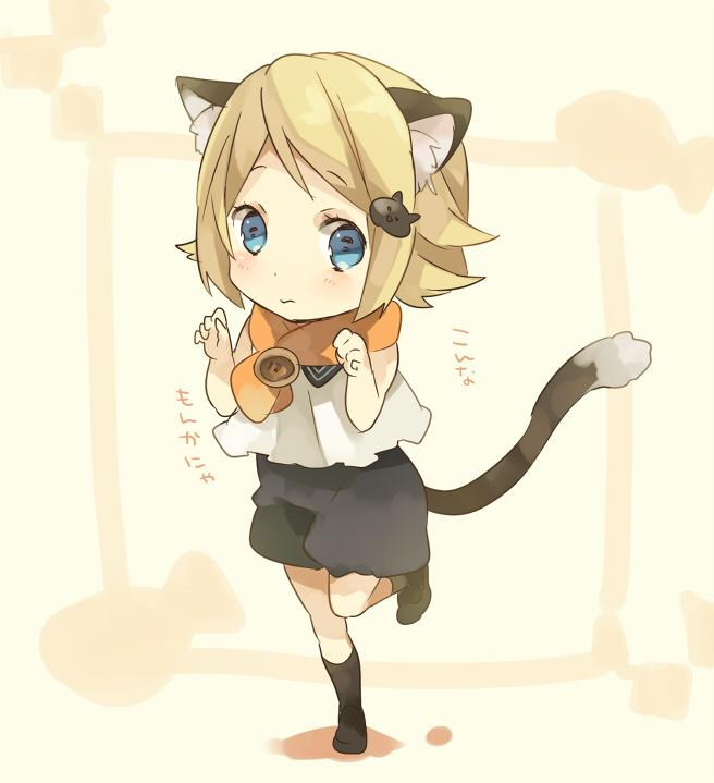 Tags: Anime, Ousaka Nozomi, VOCALOID, Kagamine Rin, Cat Clip, Rin Kagamine