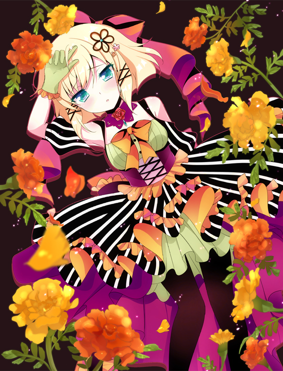 Tags: Anime, Ichiyou Moka, VOCALOID, Kagamine Rin, Carnation, Mobile Wallpaper, Pixiv, ReAct, Fanart From Pixiv, Fanart, Rin Kagamine