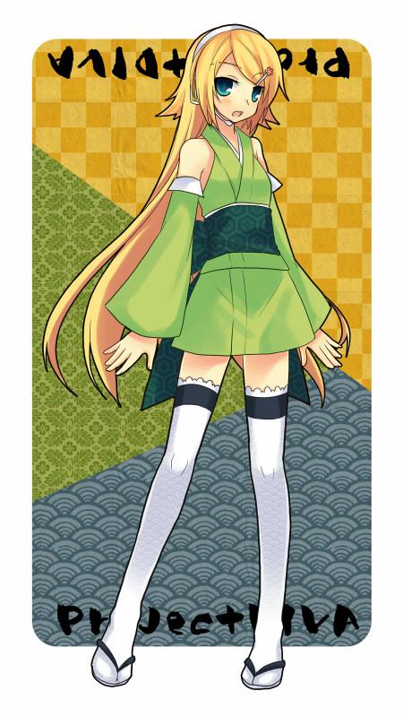 Tags: Anime, Tamura Hiro, Project DIVA 2nd, VOCALOID, Kagamine Rin, Mobile Wallpaper, Project DIVA Miyabi, Rin Kagamine