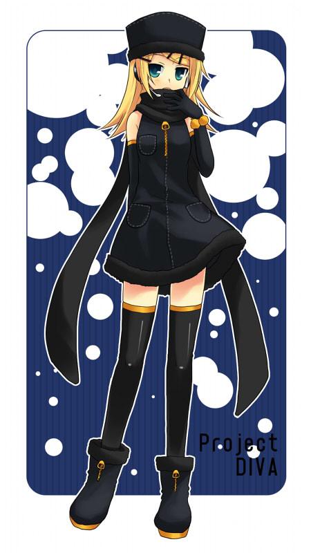 Tags: Anime, Tamura Hiro, Project DIVA 2nd, VOCALOID, Kagamine Rin, Mobile Wallpaper, Project DIVA Snow, Rin Kagamine