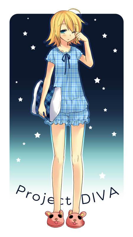 Tags: Anime, Tamura Hiro, Project DIVA 2nd, VOCALOID, Kagamine Rin, Mobile Wallpaper, Project DIVA Nemu Nemu, Rin Kagamine