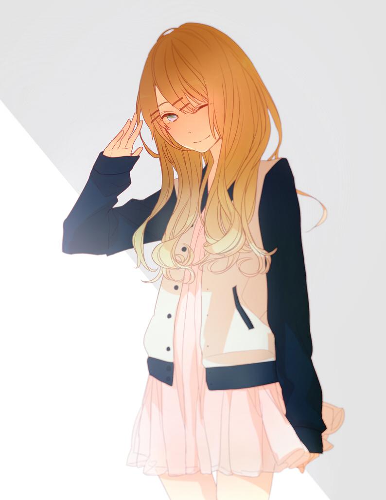 Фото аниме русых девушек