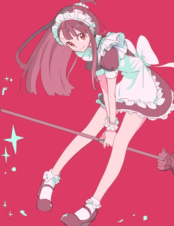 Tags: Anime, sou (Pixiv2760884), Little Witch Academia, Kagari Atsuko, Holding Broom, Fanart, Fanart From Pixiv, Pixiv