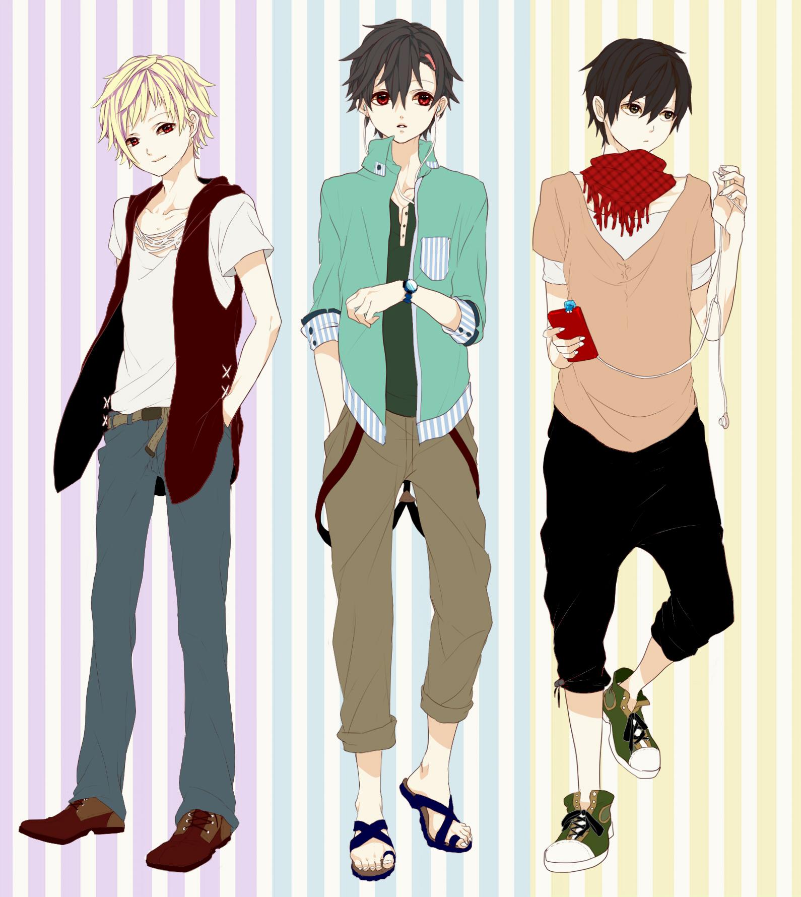 Картинки одежды аниме мальчиков