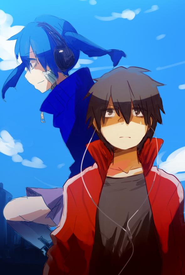 Tags: Anime, Pixiv Id 3067350, Kagerou Project, Enomoto Takane, Kisaragi Shintaro