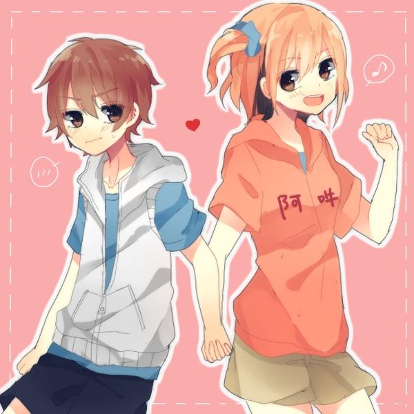 Tags: Anime, Pixiv Id 2589752, Kagerou Project, Kisaragi Momo, Amamiya Hibiya, Fanart From Pixiv, PNG Conversion, Pixiv, Fanart, HibiMomo
