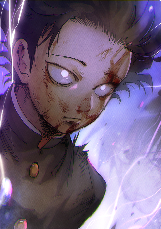 Tags: Anime, Aoki (Pixiv60197), Mob Psycho 100, Kageyama Shigeo, Mobile Wallpaper, PNG Conversion
