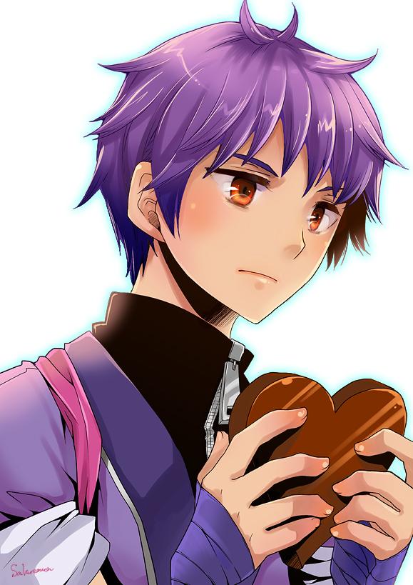 Tags: Anime, Haru Sakurana, Kyushu Sentai Danjija, Kagoshima Kouji, Chocolate Heart, Pixiv, Fanart