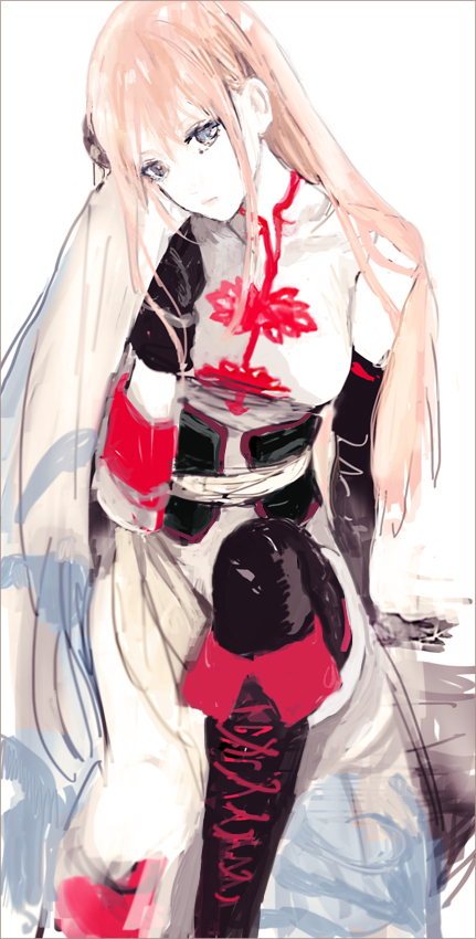 Tags: Anime, Pixiv Id 4277119, Gintama, Kagura (Gin Tama), Asymmetrical Clothing, Single Sleeve, Revision, Sketch, Fanart From Pixiv, Fanart, Pixiv