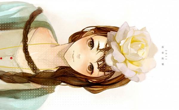 Tags: Anime, Kaiko (Artist), Sideways, Yellow Flower, Sweater, Lotus (Flower)