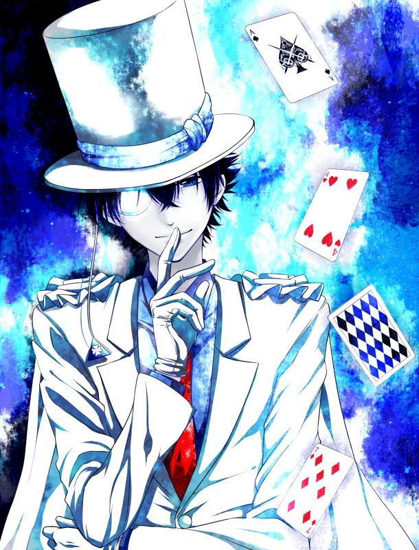 Tags: Anime, Uki (Chougen), Magic Kaito, Kaitou Kid, Kuroba Kaito, Fanart, Pixiv