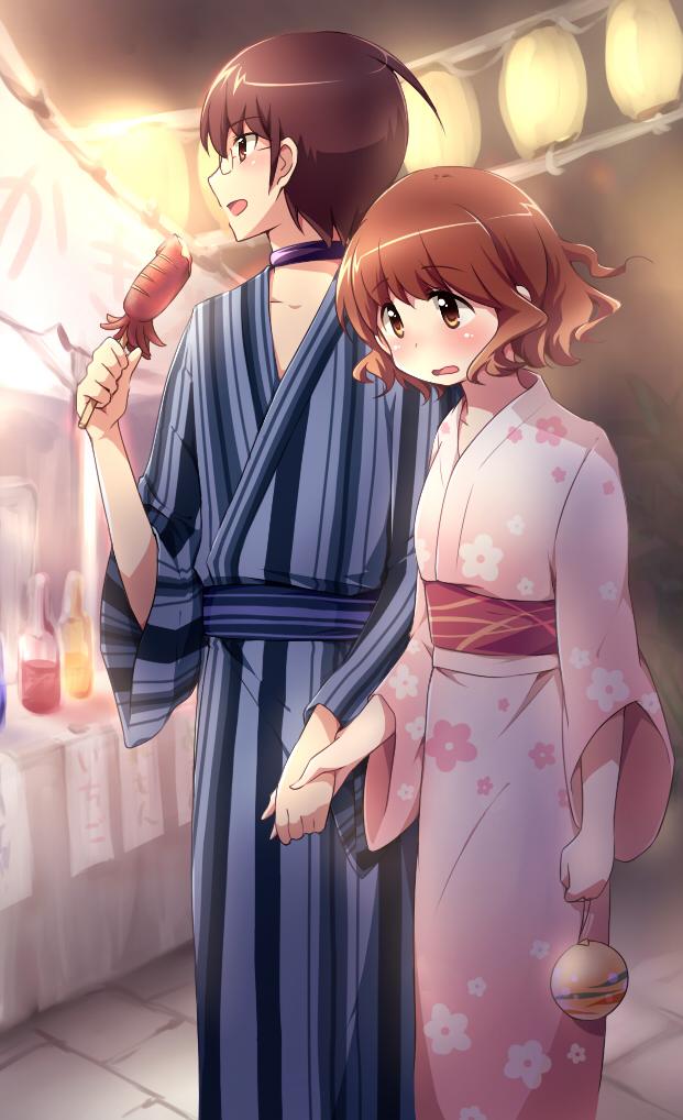 Tags: Anime, Nya?, Kami nomi zo Shiru Sekai, Katsuragi Keima, Ikoma Minami, Festival, Water Yoyo, The World God Only Knows