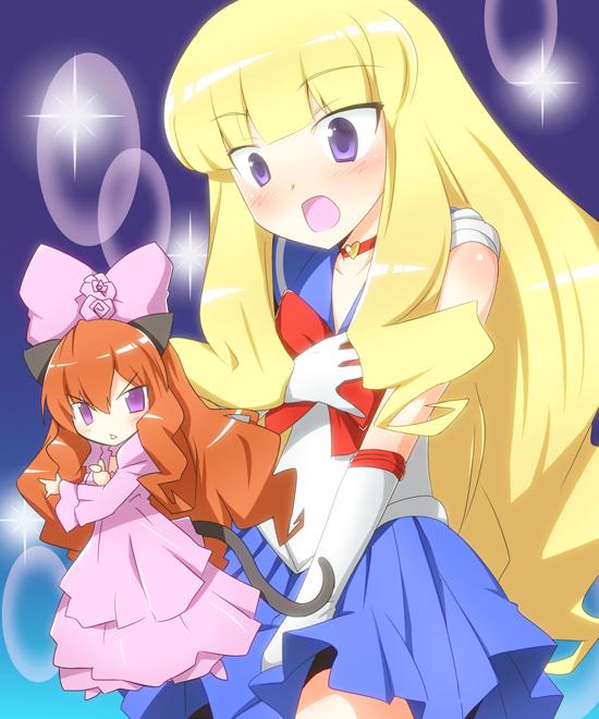 Tags: Anime, Yuto (Artist), Kami nomi zo Shiru Sekai, Vulcan, Kujou Tsukiyo, Sailor Moon (Character) (Cosplay), Luna (Sailor Moon) (Cosplay), The World God Only Knows