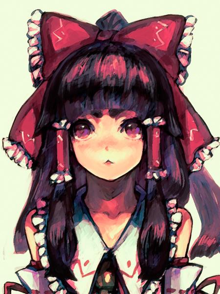 Tags: Anime, Im, Ao no Exorcist, Kamiki Izumo, Hakurei Reimu (Cosplay), Touhou (Cosplay), Fanart, Pixiv