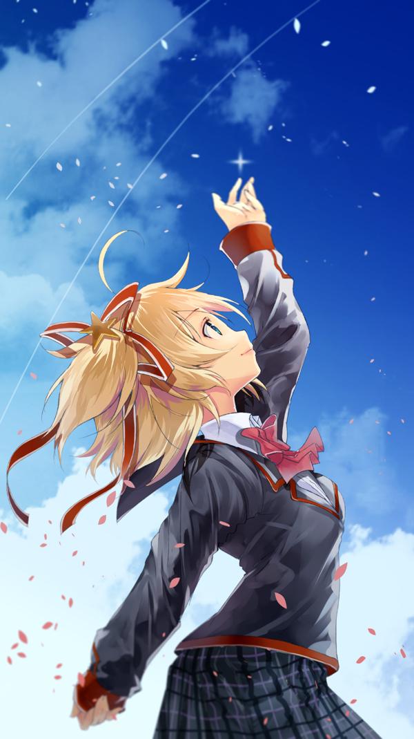 Tags: Anime, Yae (Artist), Little Busters!, Kamikita Komari, Pixiv, Mobile Wallpaper, Fanart From Pixiv, Fanart